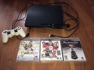 PS3 250GB Console & Controller HDMI  3 Games