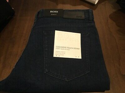 NWT Hugo Boss Albany Mens Relaxed Fit Cashmere Denim Stretch Jeans 34 x 32 (Cashmere Denim Jeans)