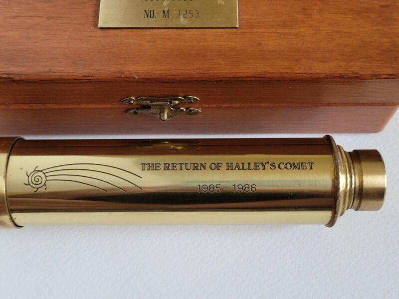 The Return of Halleys Comet 1985-1986 No. M 1253 Brass Anniversary Telescope