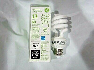 GE Compact Fluorescent 13 watts Mini Spiral Bulb 60 watts Equivalent (Ge Spiral Compact Fluorescent Bulb)