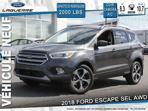 2018 Ford Escape SEL**AWD*CUIR*CAMERA*BLUETOOTH**