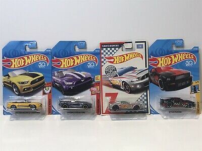 Hot Wheels ~Ford Mustang~ Lot of 4 ~ '07 ~ '15 Shelby ~ GT *NIP* Diecast