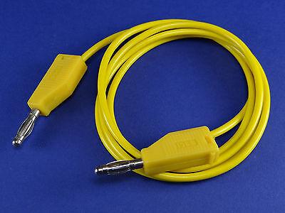Messkabel Prüfleitung 4mm Bananenstecker 1,0m Gelb (ML16)