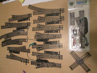 Assortment of HO Scale Code 100 Turnouts (Switches) & Controllers Scale Turnout Switches