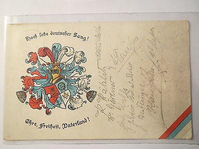 Zerbst - Techniker Gesangverein - 1910 - Wappen / Studentika