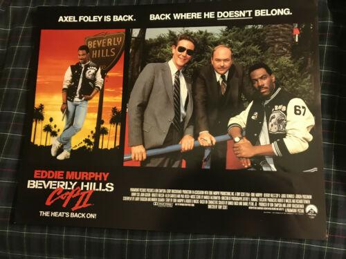 "Beverly Hills Cop II 1987 Paramount 11x14"" comedy lobby card Eddie Murphy"