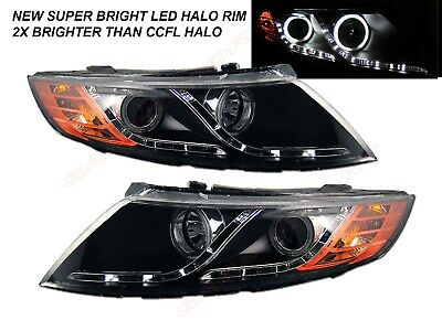 Black Projector Headlights w/ LED Halo parking for 2011-2013 KIA Optima EX LX