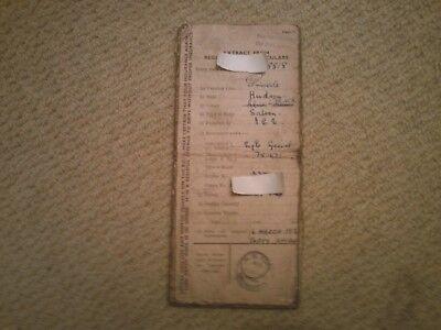 Hudson Eight Special 1937 memorabilia literature log book classic car  Hot Rod