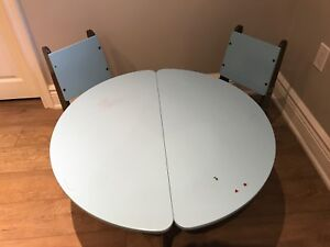 Children's Designer Table and Two Chairs (Blue)