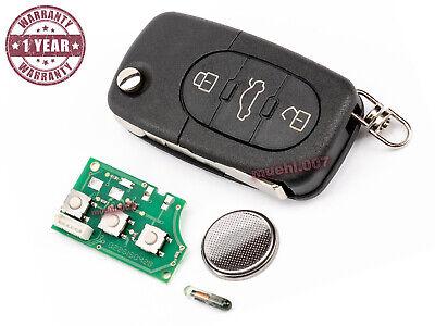 Audi A3 8L 8P A4 B6 A6 C5 A8 4D Auto Klapp Schlüssel Ersatz Gehäuse Batte CR2032