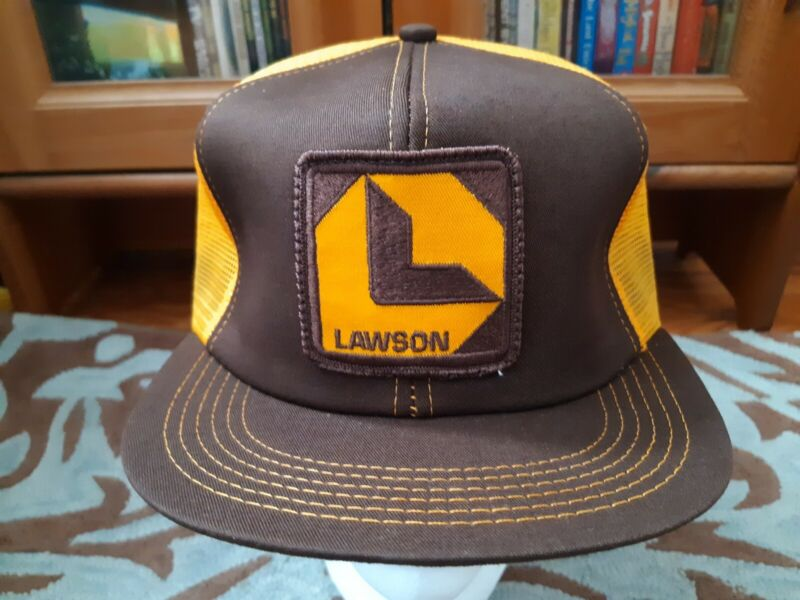 Vintage Lawson Patch Snapback Trucker Hat, Mesh Cap, K-Products, Made in USA