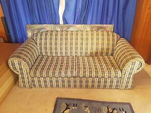 Large Blue checkered sofa bed Brahma Lodge Salisbury Area Preview