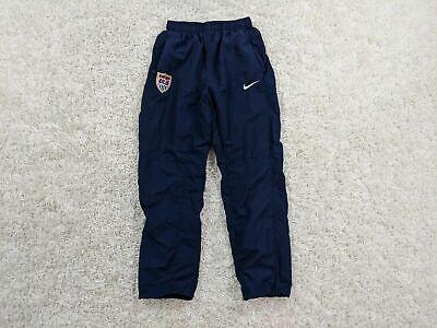 Vintage Nike Team USA Dri-Fit Soccer Windbreaker Pants Women Small Blue Warm Up