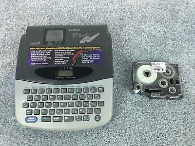 Brother P-touch Pt-300 Tz Tape Label Maker Printer Auto Number W 34 Tape Cart