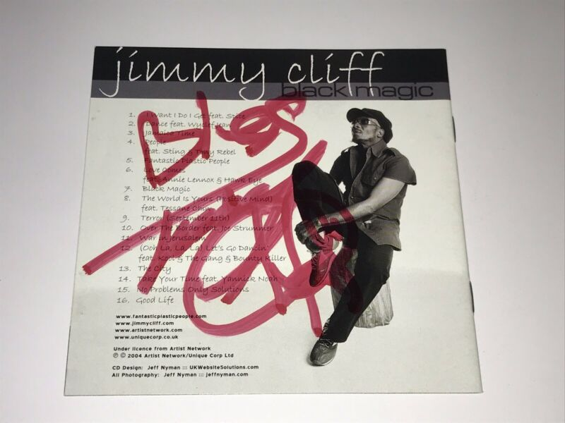 Jimmy Cliff Autographed Signed CD Black Magic PSA Reggae Free Worldwide Shipping