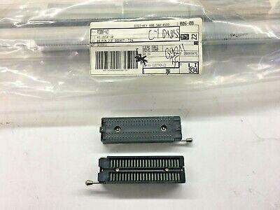 2 Piece Lot 48-6554-10 Connector Ic Dip Socket Zif 48pos Tin