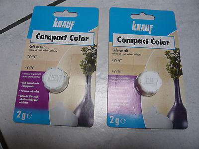 2 x Knauf Compact Color Cafe au lait 2g Restposten