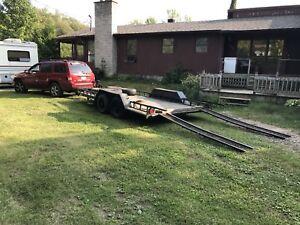 Remorque 2 essieux capacité 2,5 tonnes