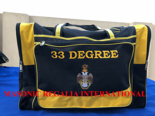 MASONIC 33RD DGREE DUFFLE BAGS, DUFFLE BAGS, TRAVEL DUFFLE BAGS, MASONIC REGALIA