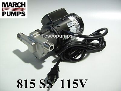 March Beer Pump 815 Ss 115v With Base 6 Cord Plug Home Brewing  Hf 809