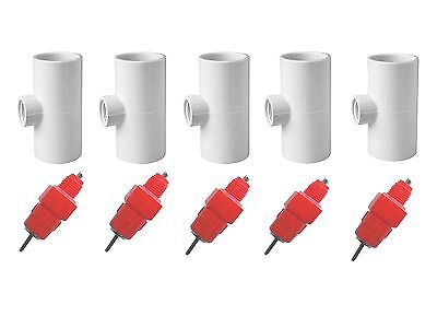 5 Pack Poultry Drinking Nipples - Chicken Hen Automatic Water Drinker & Fitting!