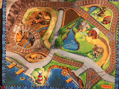 Fisher Price Thomas and Friends Felt Playmat Wooden Railway Island of Sodor