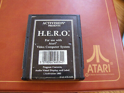 DEC ATARI 2600  OFFERS/COMBINE ACTIVISION HERO RARE BLACK LABEL + REP BOX comprar usado  Enviando para Brazil