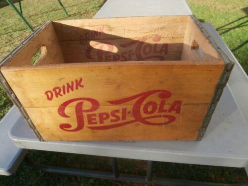 Vintage Pepsi Cola Soda Wooded Box Crate Case