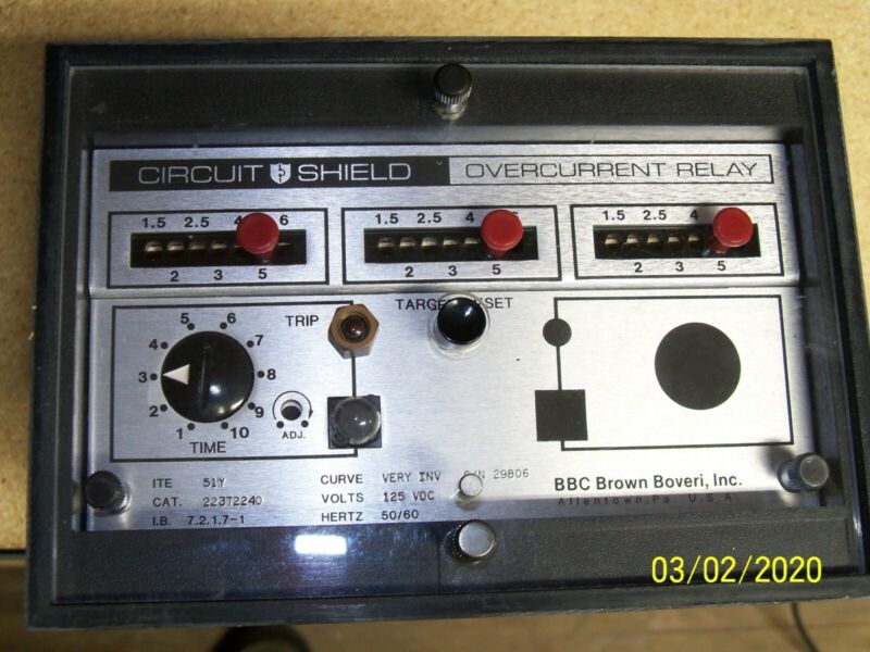 New ABB Power Circuit Shield Over current Relay Type 51Y, CAT 423T2240, US made