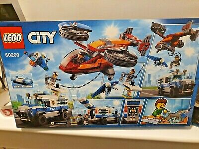 LEGO 60209 City Police Sky Police Diamond Heist New - Helicopter,Jetpack,Truck+