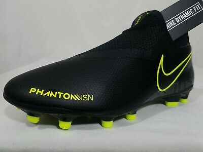Nike Phantom Vision DF MG Soccer Cleats Sz 7.5-8.5 Women's Black Volt AO3258-007