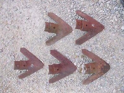 5 Cultivator Shovels Shovel 10 Jd Ac Ih Oliver Farmall Allis Ready To Use