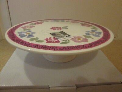 Cake stand, brand new boxed, single tier ceramic National Trust 'Bohemian' range