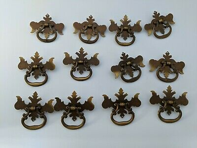 **Bulk Set of 12** cast iron Antique Brown//Black Drawer Pull Handle