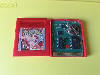 Pokemon Red Version Authentic Works And Saves (Game Boy, 1998)