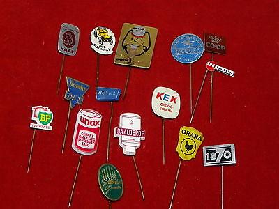 KONVOLUT DIVERSE PINS ANSTECKNADELN LEBENSMITTEL ORIGINAL  60er/70er JAHRE (35M)
