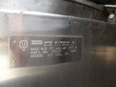 Groen Jacketed Stainless 400 Gallon Tank
