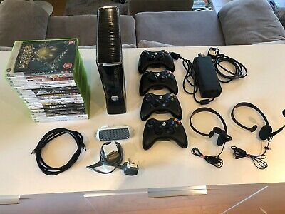 Microsoft Xbox 360 250GB Glossy Black Console Bundle