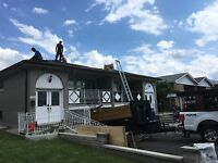 Roofing service working until customer satisfied