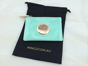 BNWT MIMCO SMALL MIM POUCH WALLET SEAFOAM ROSE GOLD LEATHER RRP69.95