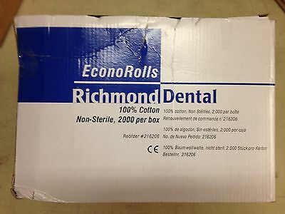 Richmond Dental Econorolls 216206 Economy Cotton Rolls Medium Box Of 2000