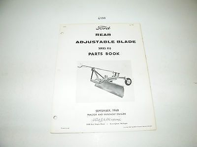 Ford Tractor Rear Adjustable Blade 710 Series Parts Catalog Book 1960 Pa-8272