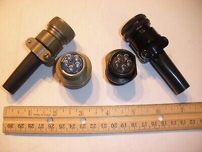 New - Ms3106a 18-11p Sr Wb And Ms3101a 18-11s Sr Wb - 5 Pin Mating Pair