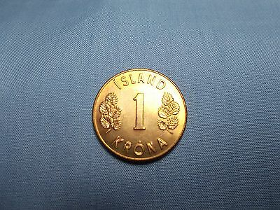 2008 ICELAND 10 KRONUR Free Ship BIN #FFF AU//UNC- From Original Mint Roll