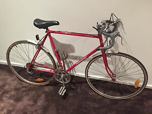 Vintage classic mens 10 speed racer bright red steel Cromoly frame 55c Melbourne CBD Melbourne City Preview