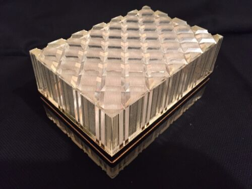 Vintage Lucite Acrylic Plastic Hinged Box Jewelry Makeup Trinket