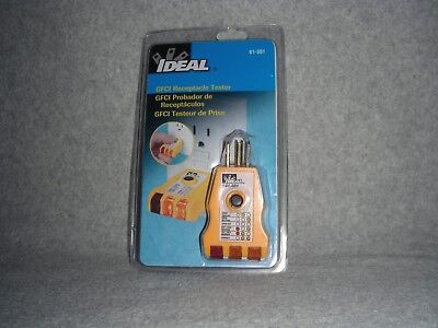 Ideal Gfci Receptacle Tester Model 61-501 Factory Sealed Free Ship