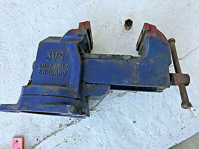 Vintage V3s Sheffield Record Engineers Swivel Vise In Working Condition