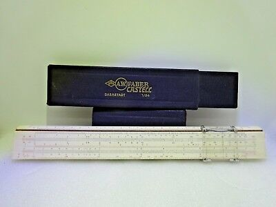 Vintage A.W. FABER CASTELL Darmstadt 1/54 Slide Rule with Black Case Germany for sale  Shipping to United States
