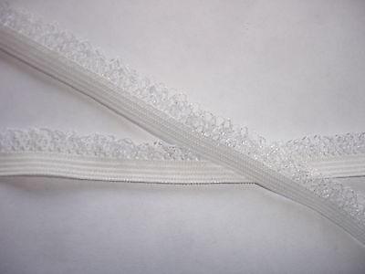10m elastische Spitze 0,24€/m naturweiß, 10mm breit   MB5